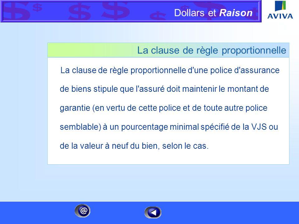 La clause de règle proportionnelle