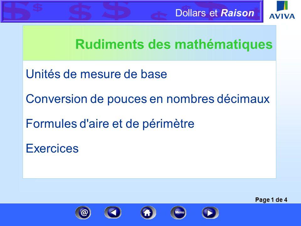 Rudiments des mathématiques