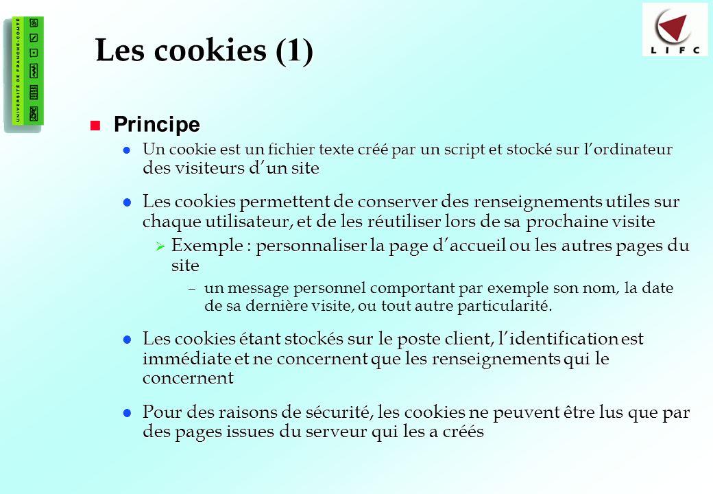 Les cookies (1) Principe