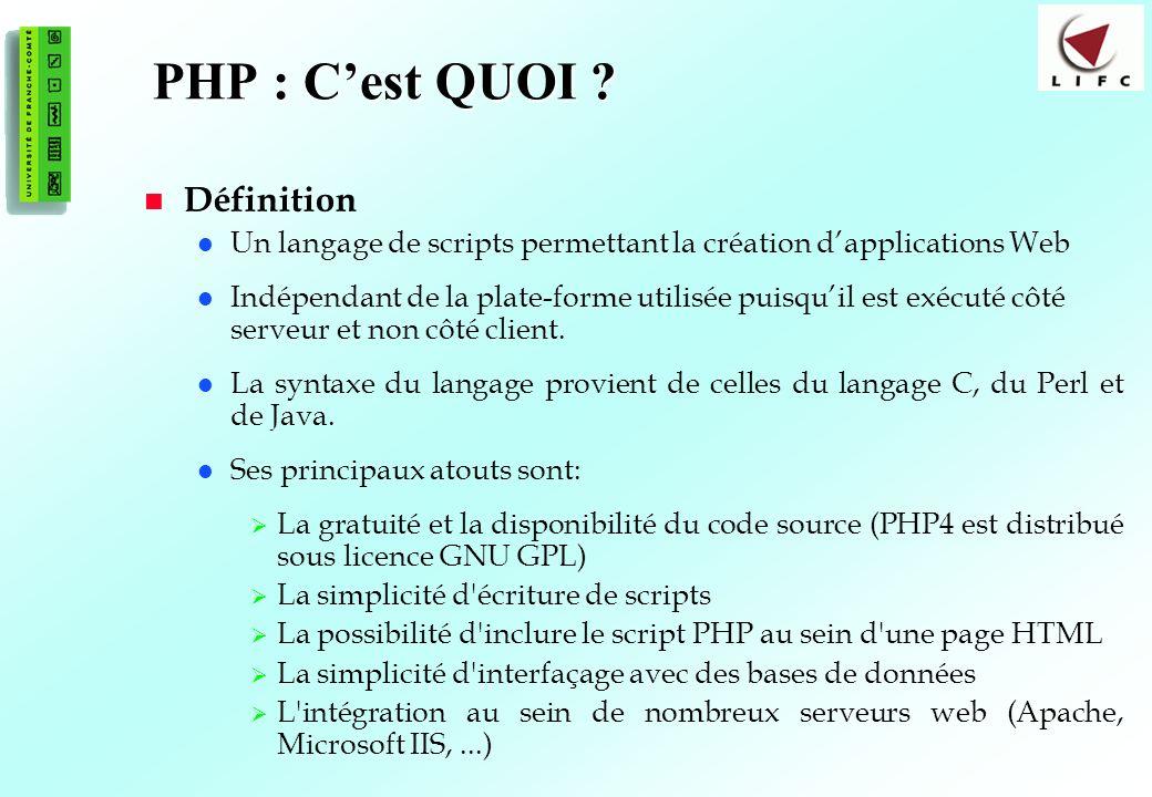 PHP : C'est QUOI Définition