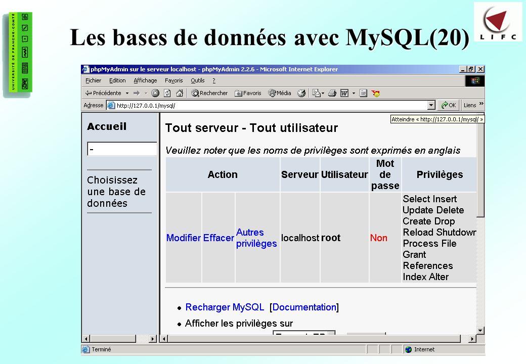 Les bases de données avec MySQL(20)