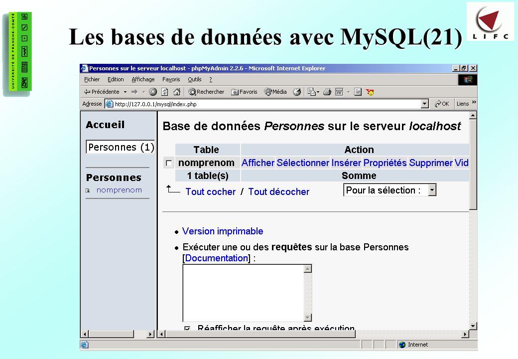 Les bases de données avec MySQL(21)