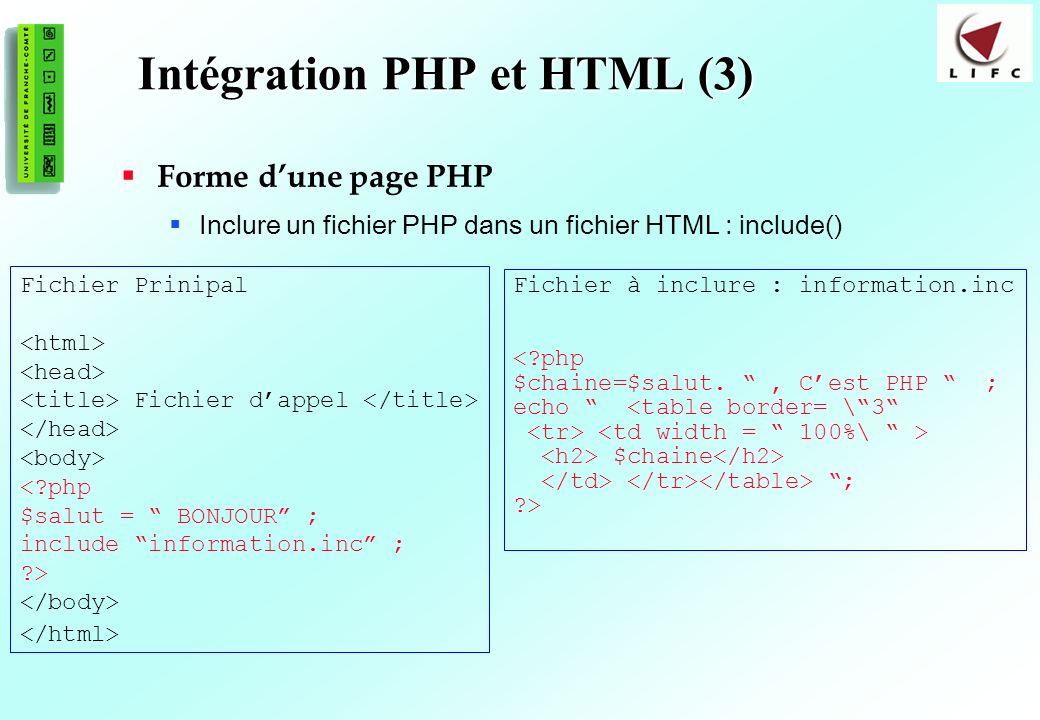 Intégration PHP et HTML (3)