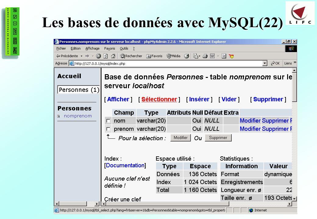 Les bases de données avec MySQL(22)
