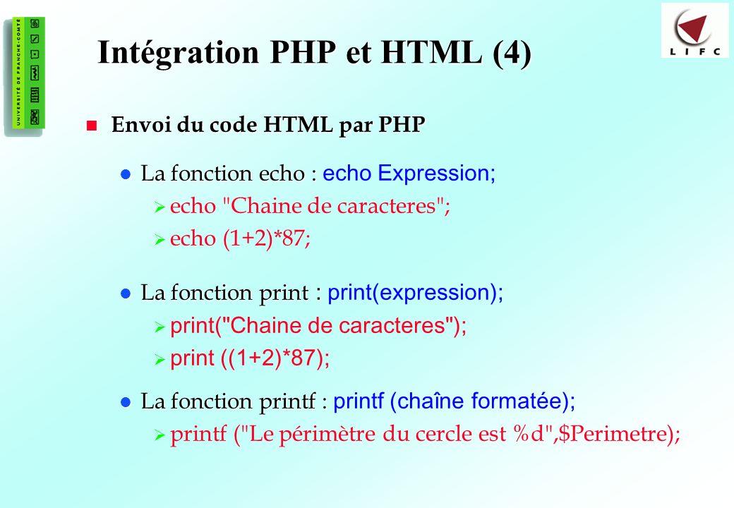 Intégration PHP et HTML (4)