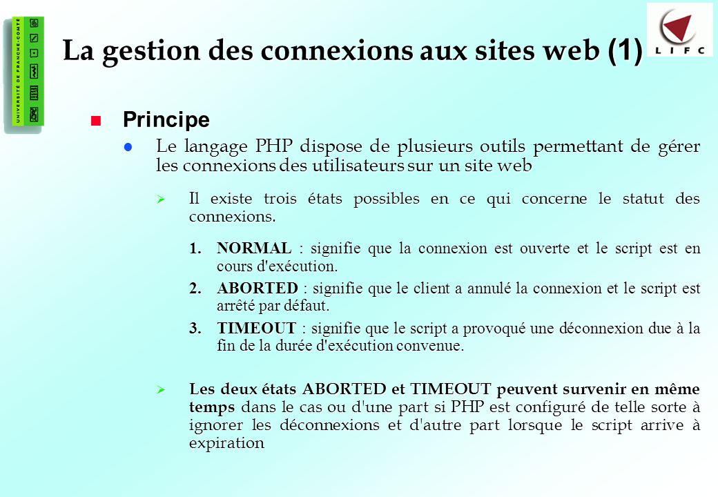 La gestion des connexions aux sites web (1)