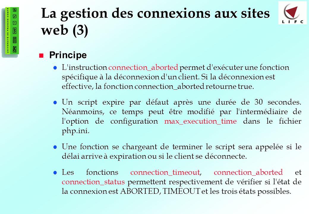 La gestion des connexions aux sites web (3)