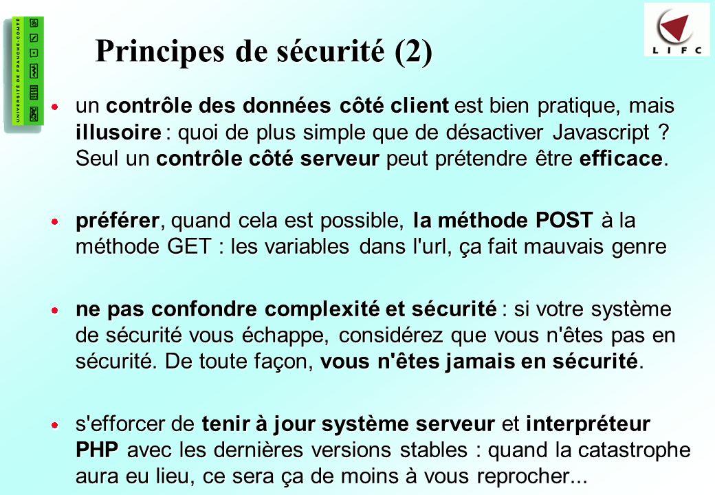 Principes de sécurité (2)