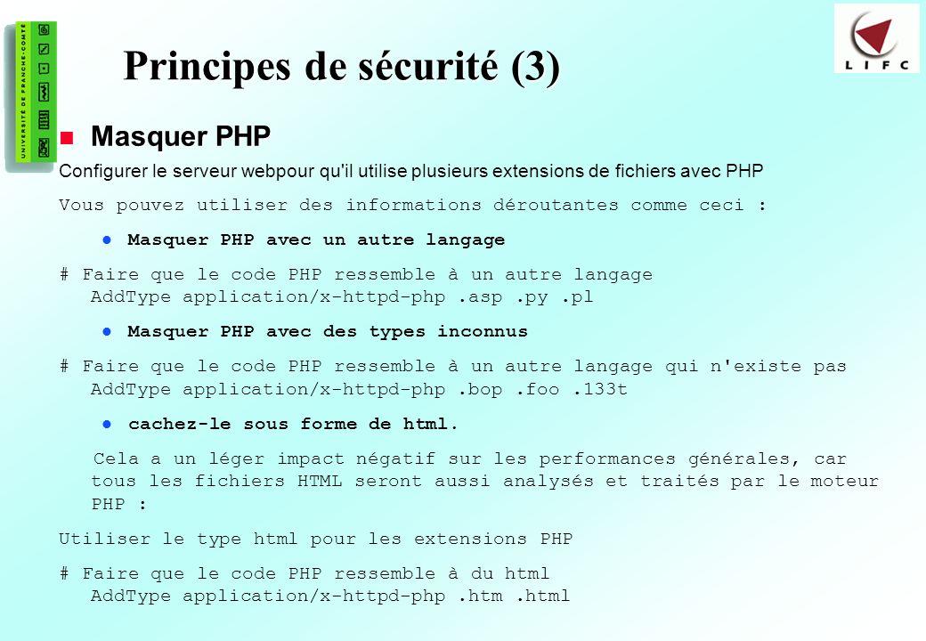 Principes de sécurité (3)