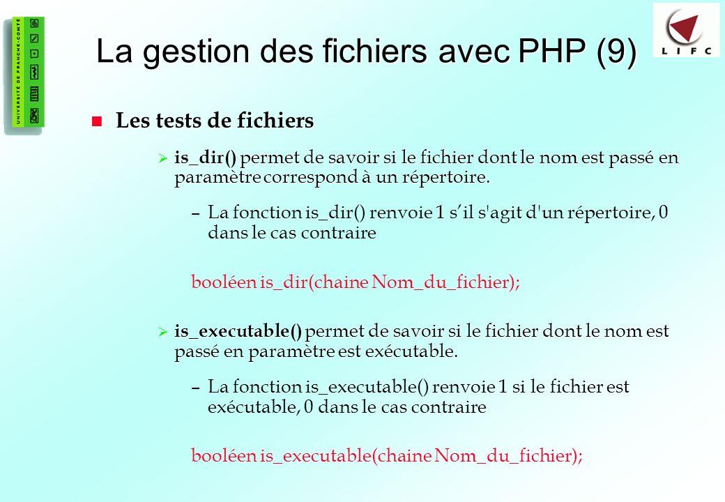 La gestion des fichiers avec PHP (9)