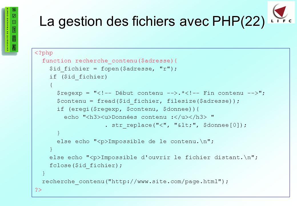 La gestion des fichiers avec PHP(22)
