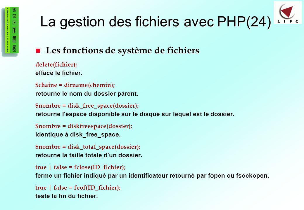 La gestion des fichiers avec PHP(24)