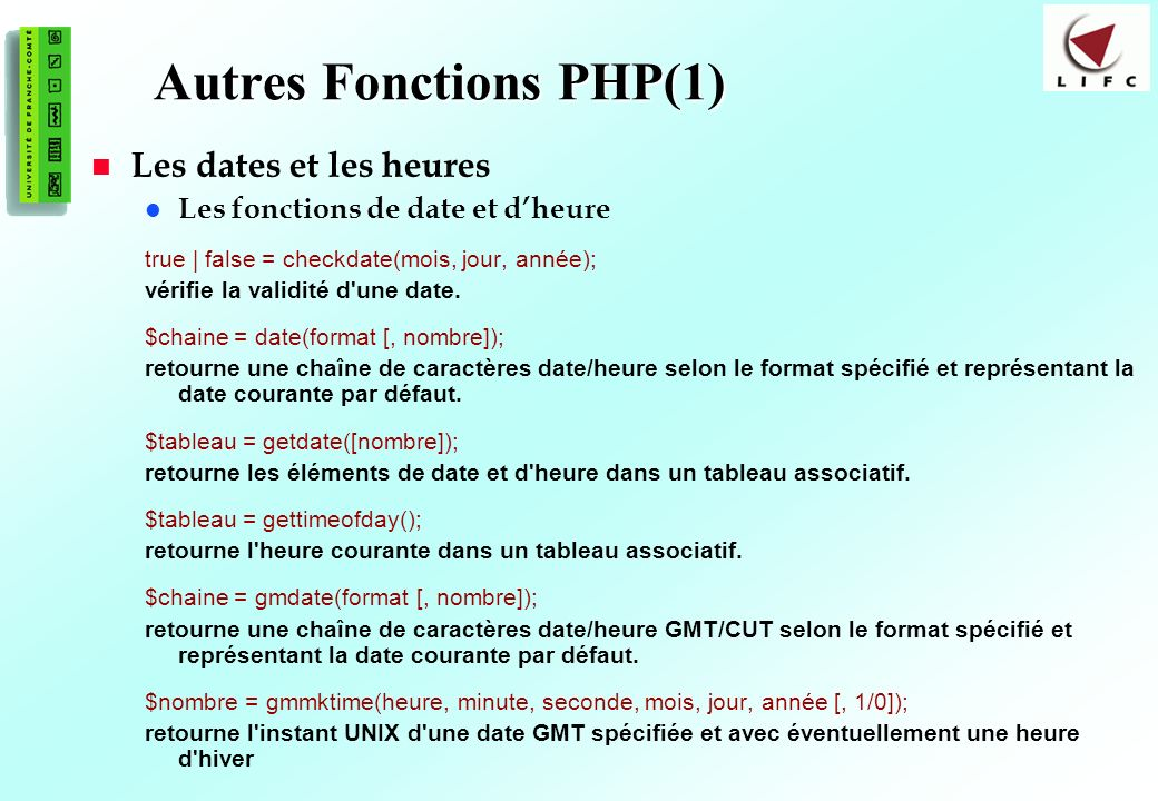Autres Fonctions PHP(1)