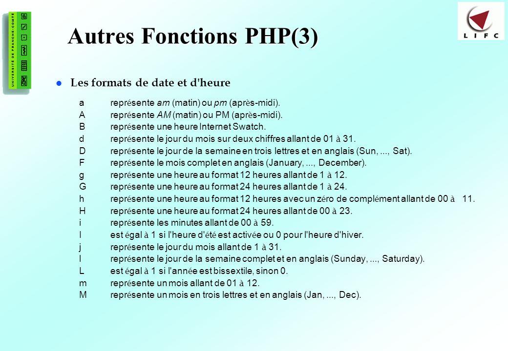 Autres Fonctions PHP(3)
