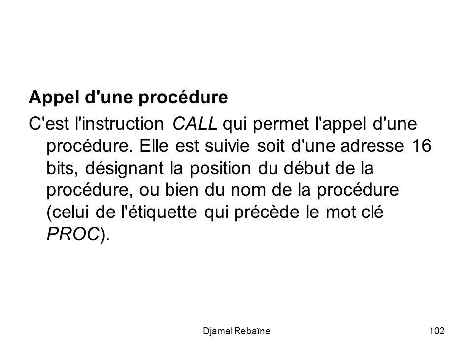 Appel d une procédure
