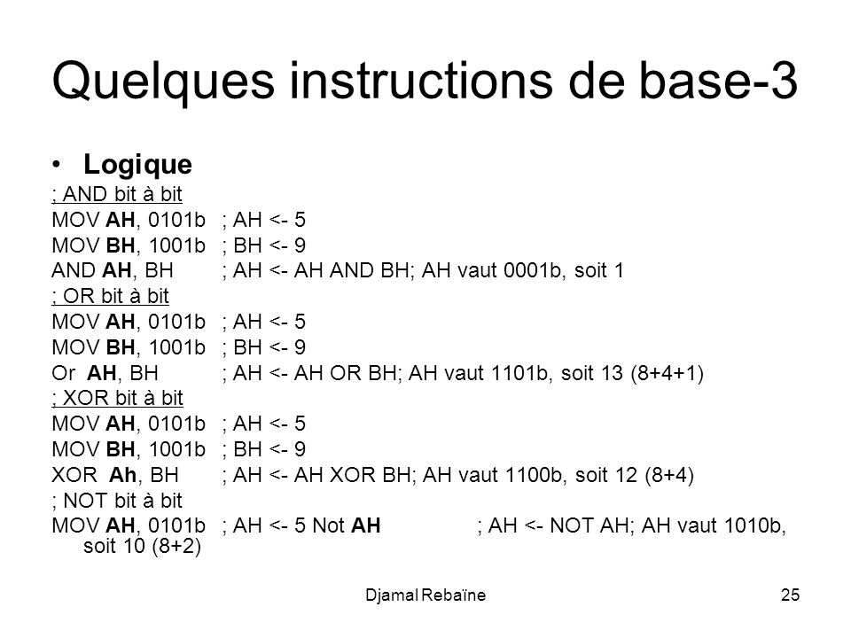 Quelques instructions de base-3