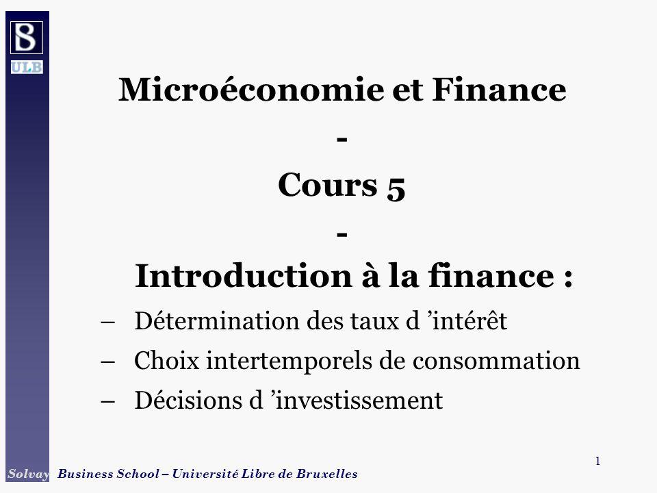 Microéconomie et Finance - Introduction à la finance :