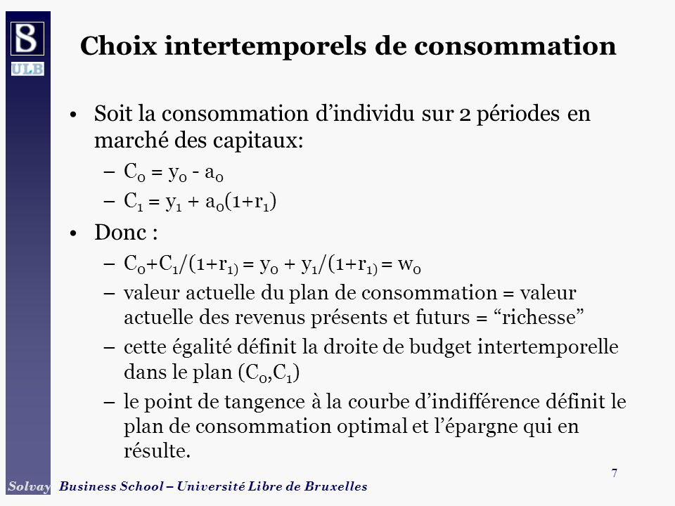 Choix intertemporels de consommation