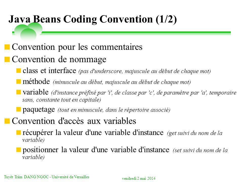 Java Beans Coding Convention (1/2)