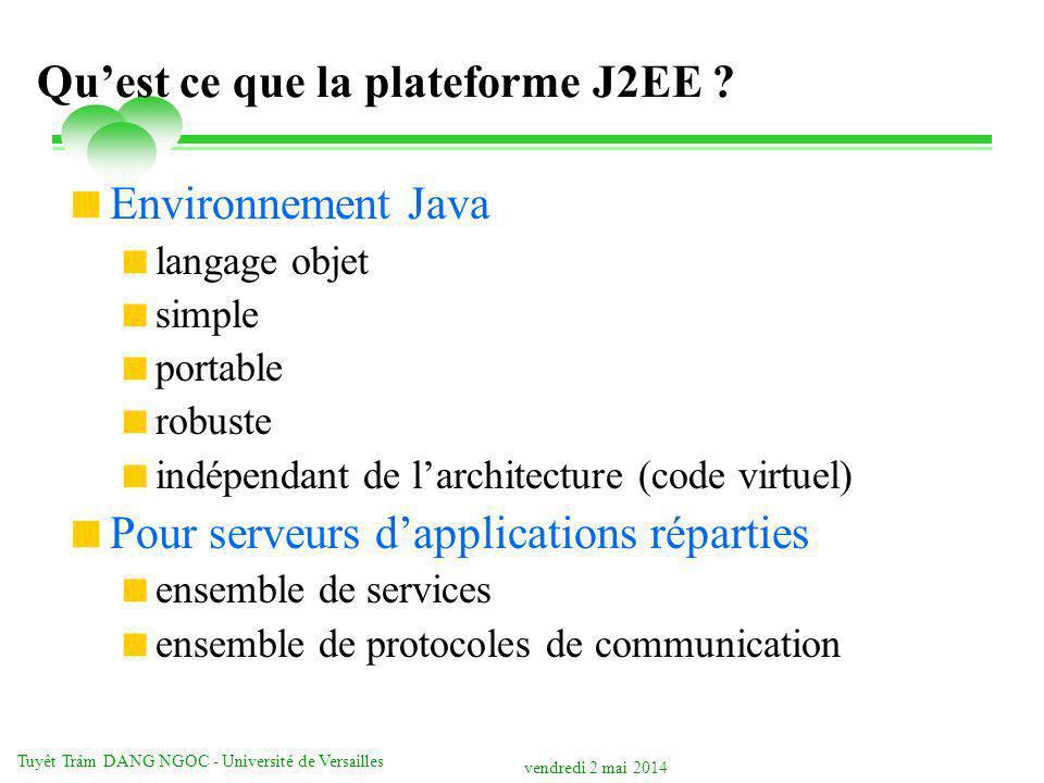 Qu'est ce que la plateforme J2EE