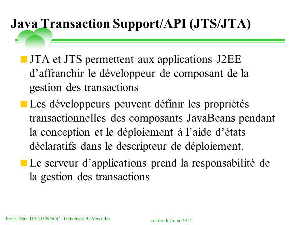 Java Transaction Support/API (JTS/JTA)