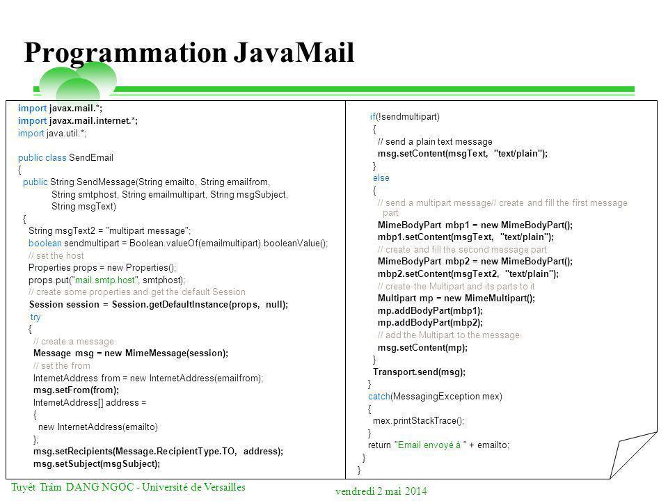 Programmation JavaMail