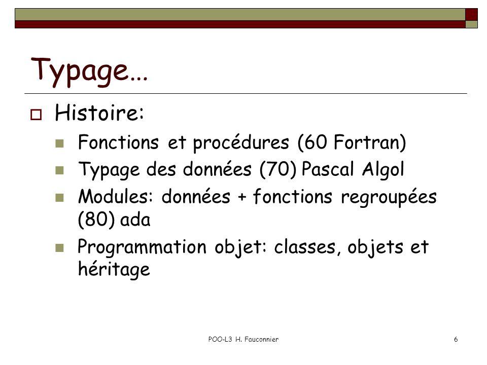 Typage… Histoire: Fonctions et procédures (60 Fortran)
