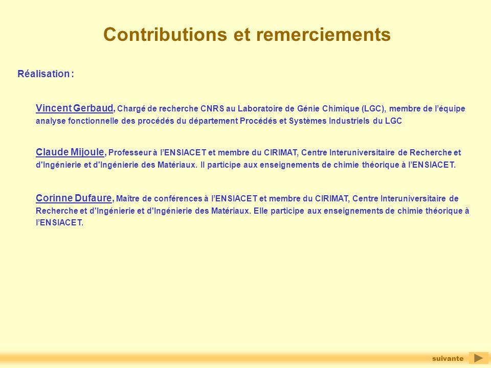 Contributions et remerciements