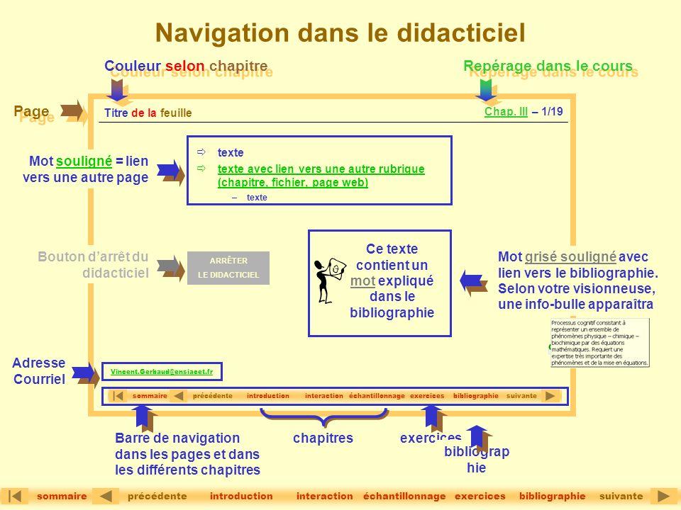 Navigation dans le didacticiel