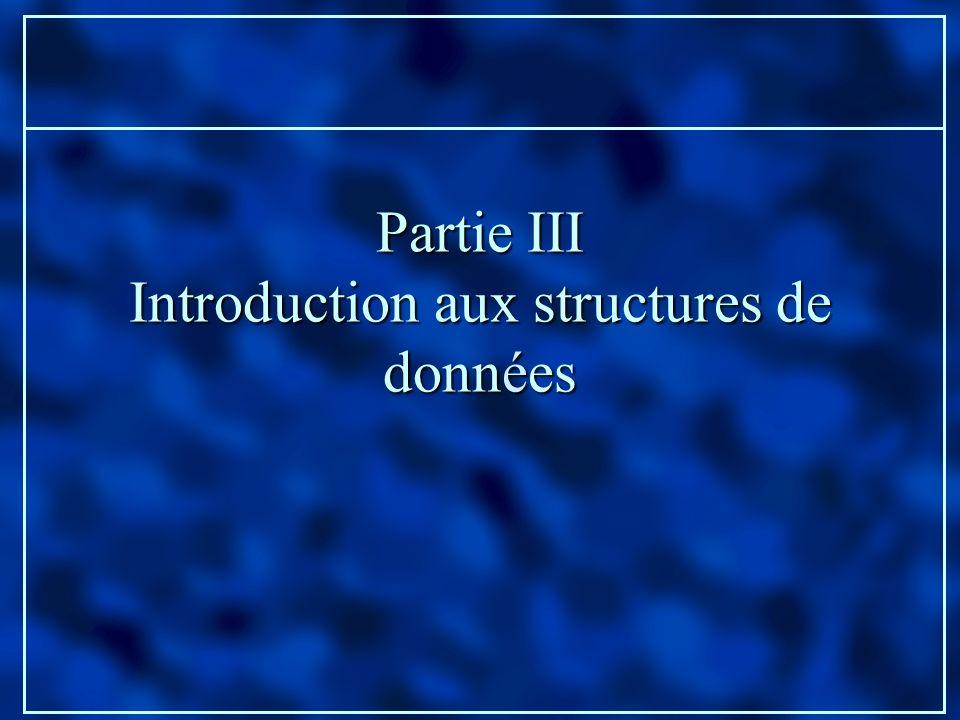 Introduction aux structures de données