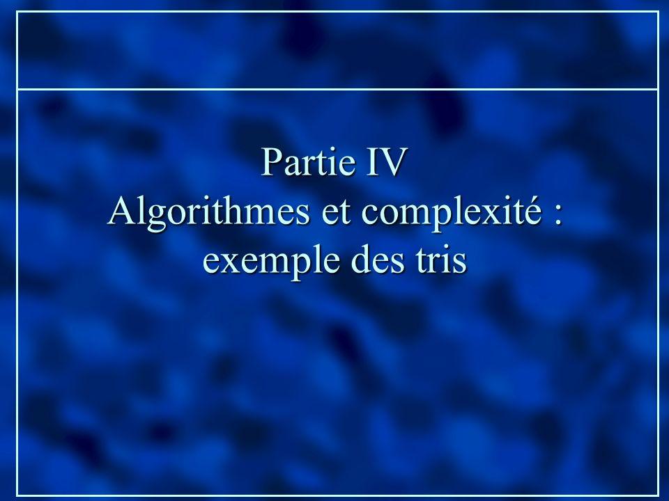 Algorithmes et complexité :