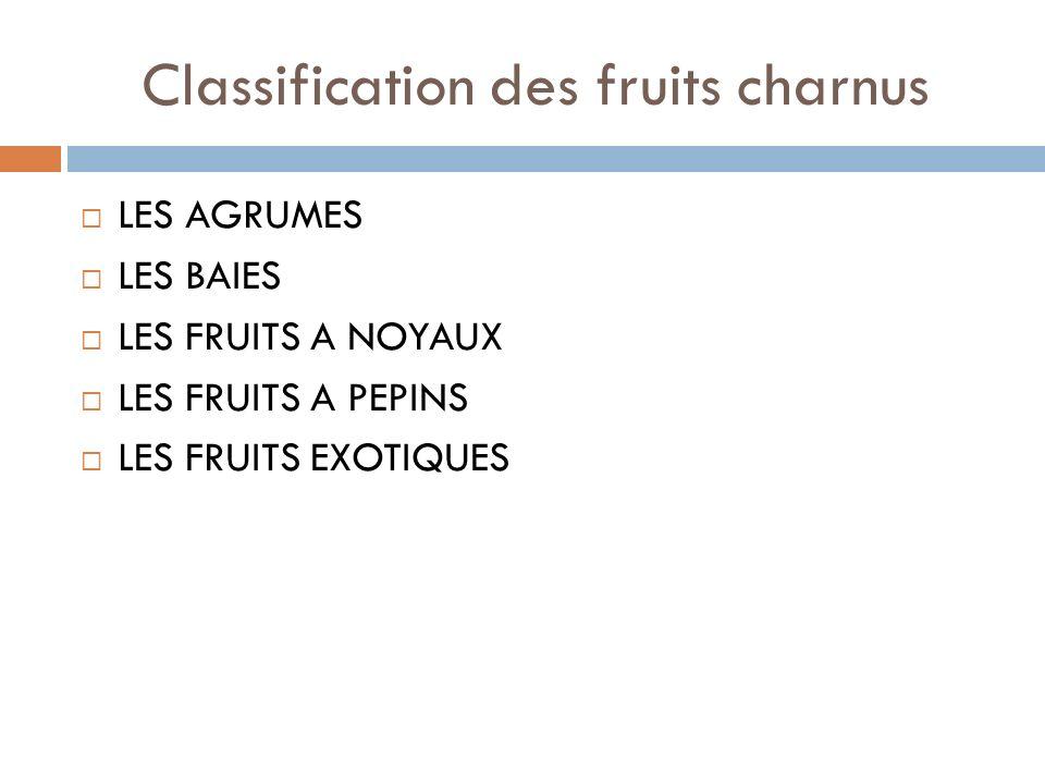 Classification des fruits charnus