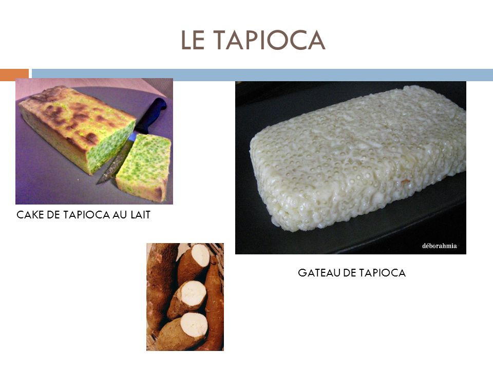LE TAPIOCA CAKE DE TAPIOCA AU LAIT GATEAU DE TAPIOCA
