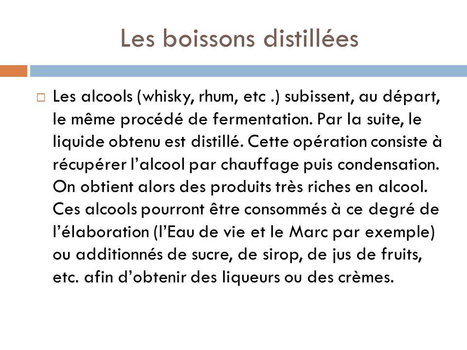 Les boissons distillées