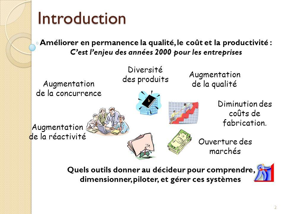 Introduction Améliorer en permanence la qualité, le coût et la productivité : C'est l'enjeu des années 2000 pour les entreprises.