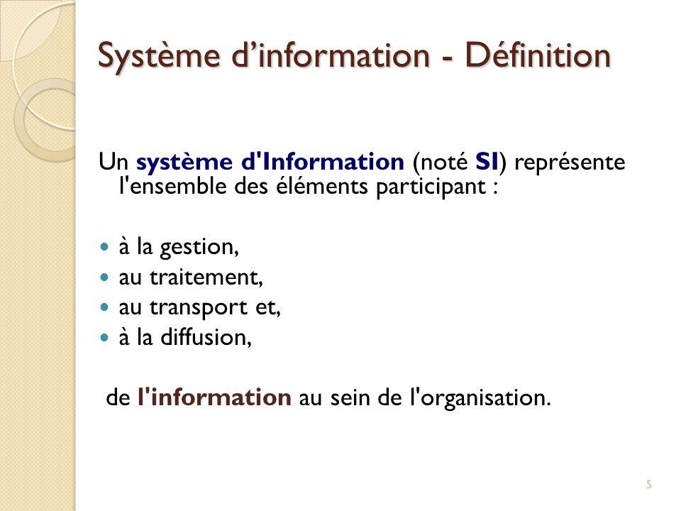 Système d'information - Définition