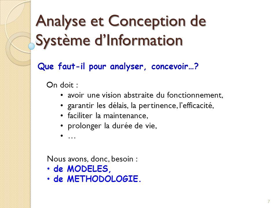 Analyse et Conception de Système d'Information