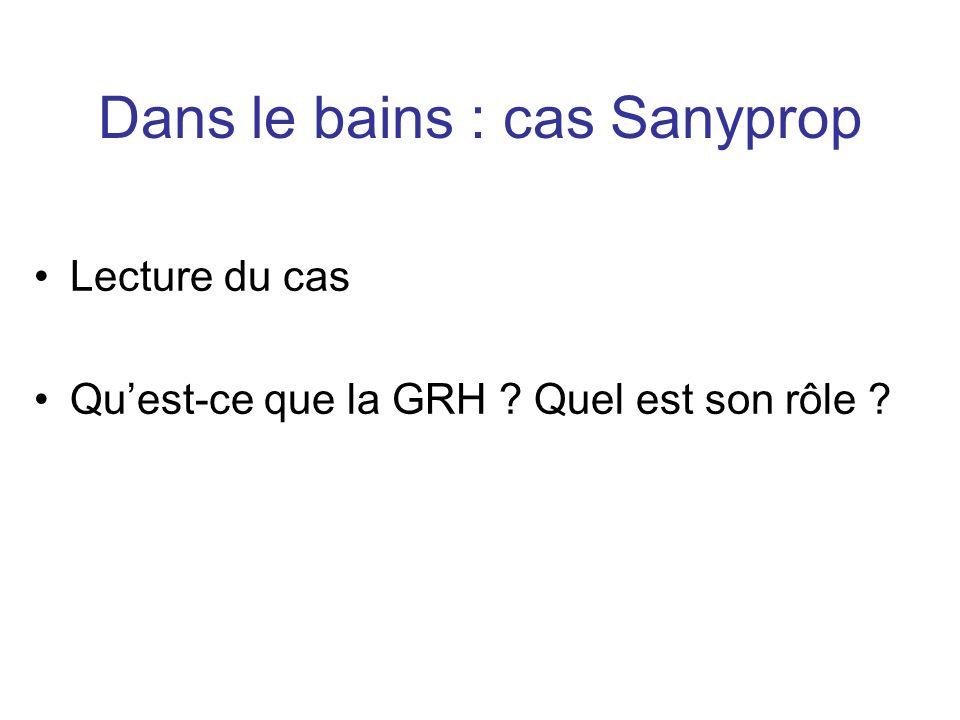 Dans le bains : cas Sanyprop
