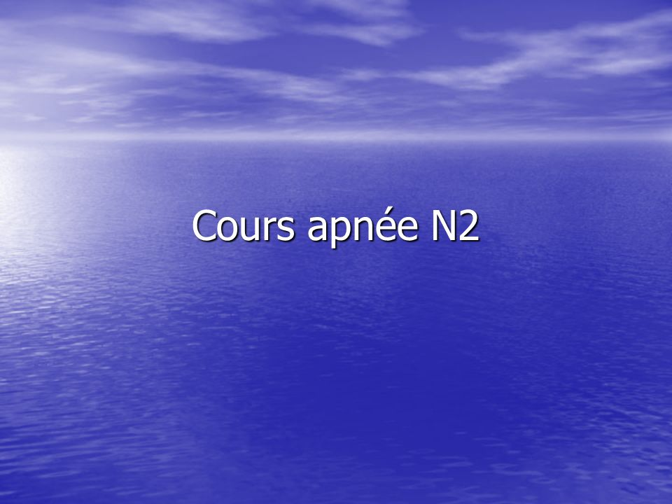 Cours apnée N2