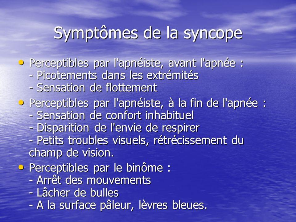 Symptômes de la syncope