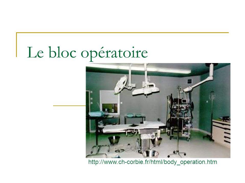Le bloc opératoire http://www.ch-corbie.fr/html/body_operation.htm