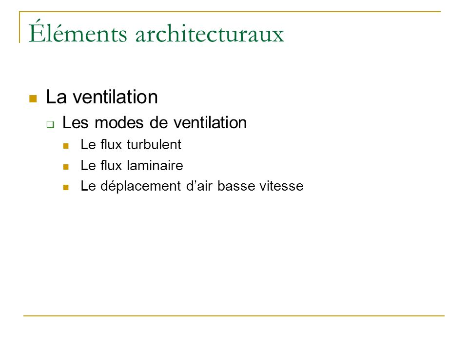Éléments architecturaux