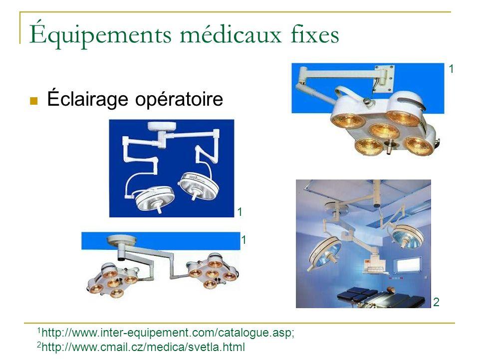 Équipements médicaux fixes