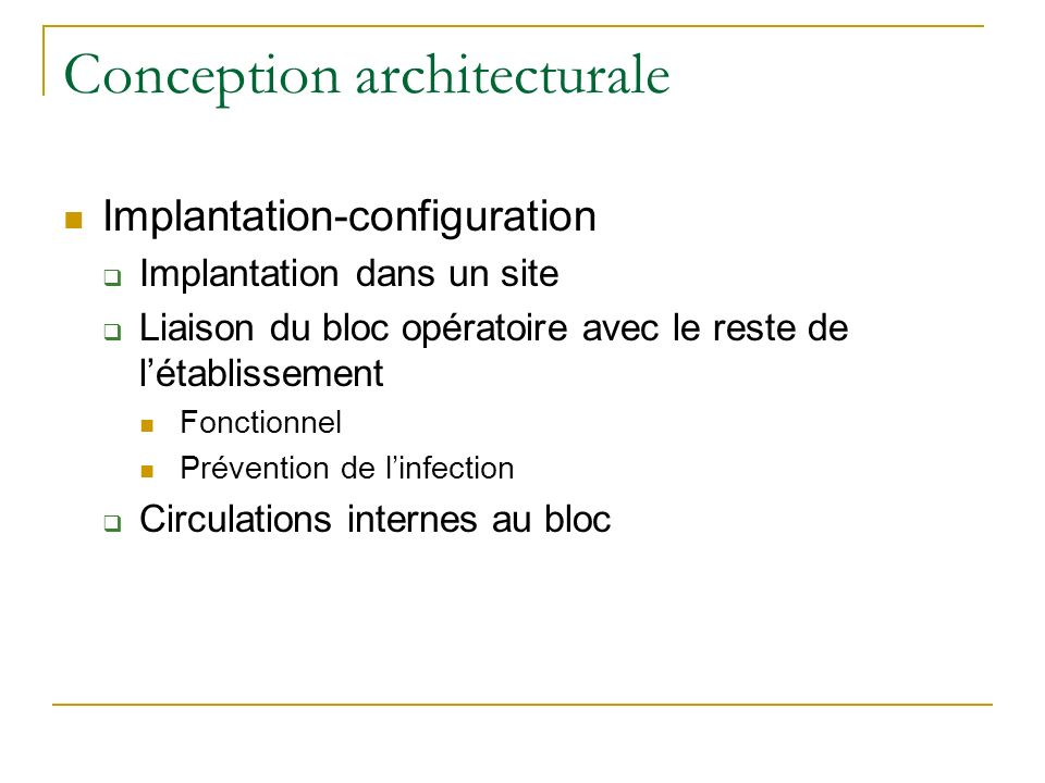 Conception architecturale