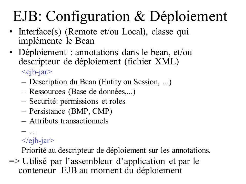 EJB: Configuration & Déploiement