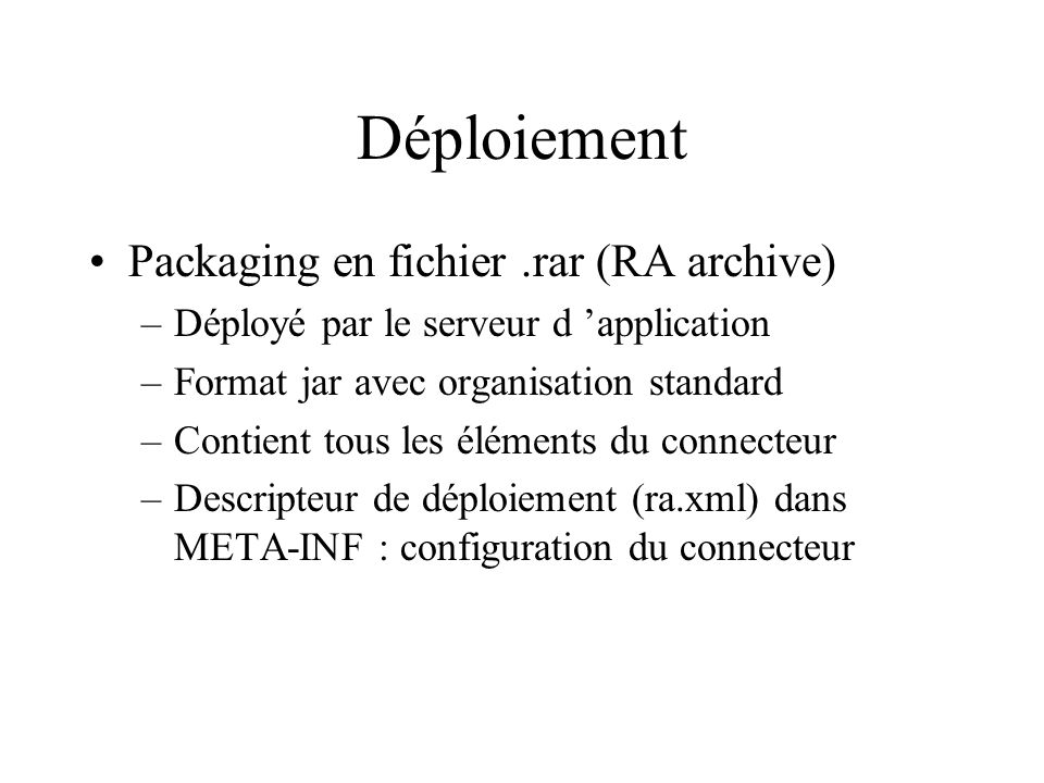 Déploiement Packaging en fichier .rar (RA archive)