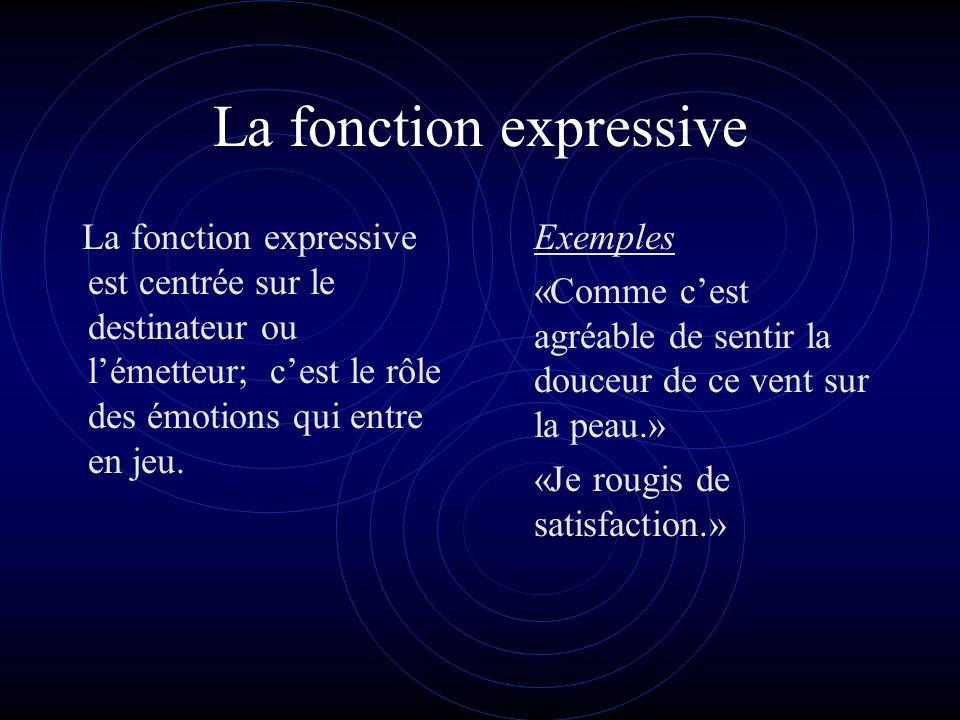 La fonction expressive