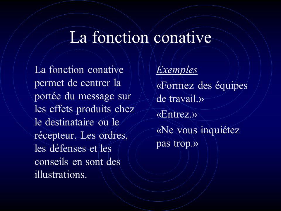 La fonction conative