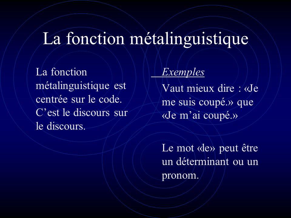 La fonction métalinguistique