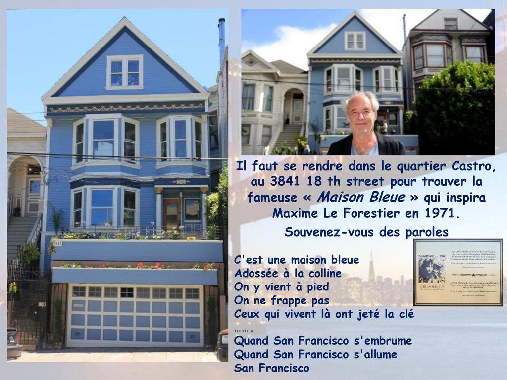 C'est une maison bleue parole